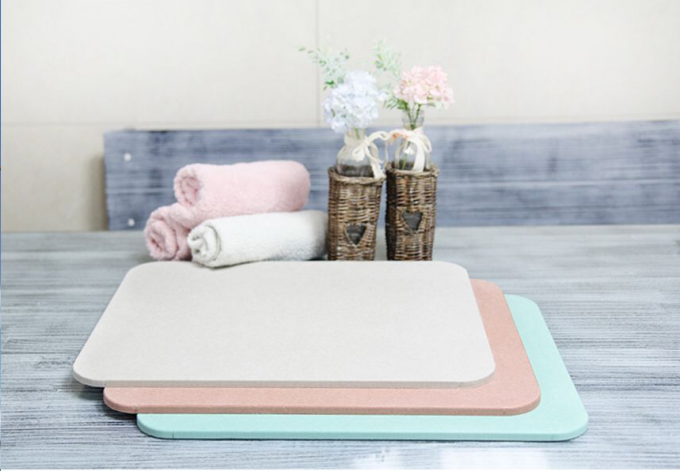 CE/SGS Certificate Hot sale Natural Non Slip Diatomaceous Earth Mat New Super Quick Dry Diatomite Bath Mat