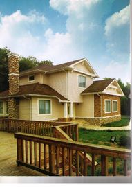 High Strength Wood Look Fiber Cement Siding Fire Resistant Weatherproof For Exterior