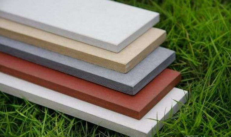 Multi Color Fibre Cement External Wall Cladding For Facade Decorative Damp Proof supplier