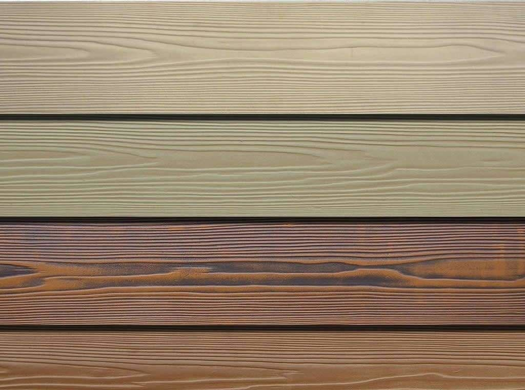 Wood Grain Fiber Exterior Cement Board Siding , Cement Fiberboard Panels supplier