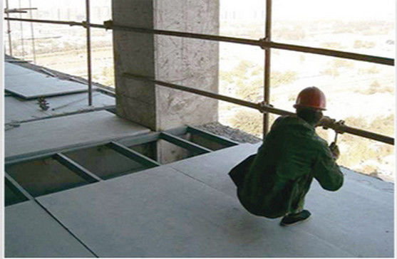 Decorative Compressed Fiber Cement Floor Board Sound Insulated Non Toxic Fireproof supplier