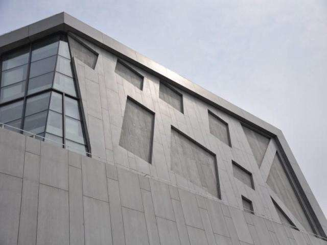 Windproof Fiber Cement Exterior Panels , Exterior Wall Cladding Boards For Building supplier