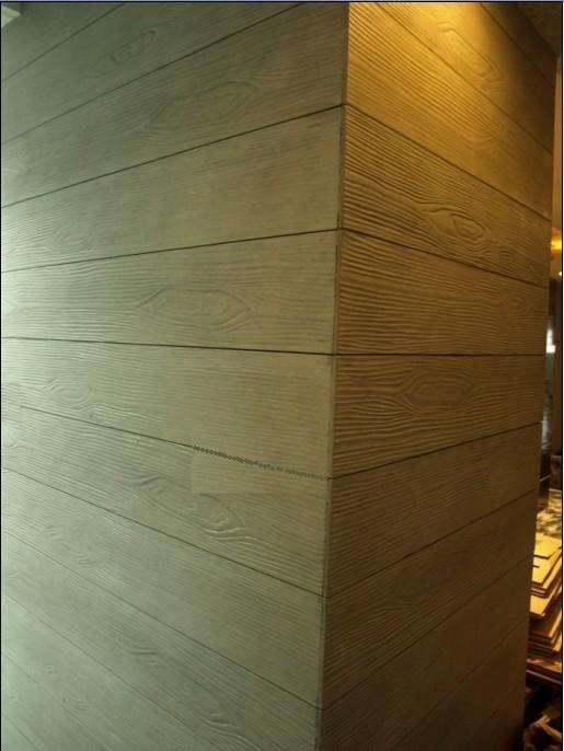 6mm Wood Grain Fiber Cement Wall Panels Cement Sheet Fireproof A1 Class supplier