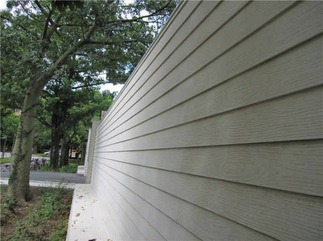 Wood Look Fiber Cement Panel Siding Modern Building Material For Wall Decoration supplier