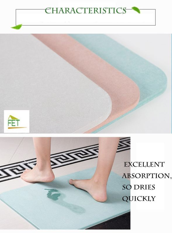 diatomaceous earth bath mat  highly absorbent anti-slip diatomite mat eco-friendly durable supplier